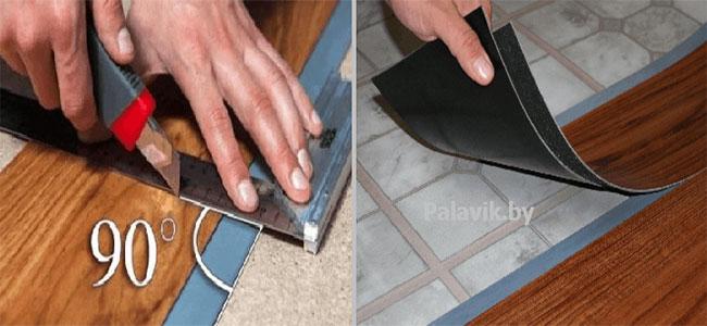 разрезать виниловый ламинат