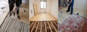 варианты укладки фанеры на деревянный пол