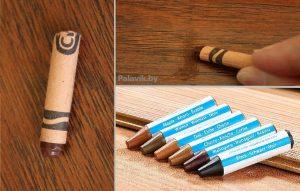 замазать царапины на ламинате карандашом