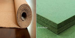 выравнивание деревянного пола подложкой под ламинат